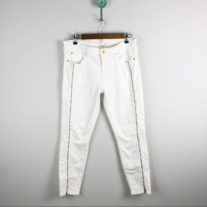7 FAM The Slim Illusion Cropped Skinny Zip Jeans